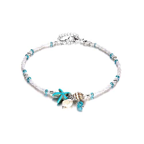 Fashionable Starfish Anklet Exquisite Boho Ankle Anklet Beach Theme Ankle Jewelry for Women and Girls Personal Care