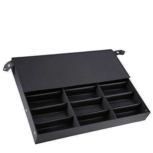 Dioche - Caja para gafas de 18 plazas, estuche porta gafas y expositor para casa y tienda, 47 x 37 x 6 cm