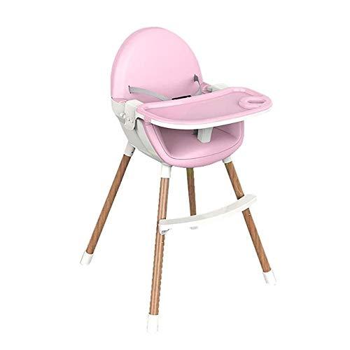 Stuhle Hochstuhl for Baby Und Kleinkind - Mit Abnehmbarem Tablett, 5-Punkt-Gurt Und Höhenverstellbar Beinen, Leicht Zu Montieren Essen for Jungs Und Mädchen (Color : Pink)