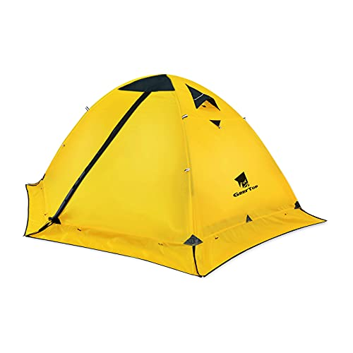 GEERTOP Ultralight Tent for Camping 2 Person 4 Season Waterproof Backpack Tent for Backacking Hiking Climbing Outdoor Survival Travel - Easy to Set Up