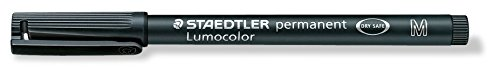 Staedtler - 317-9 - Feutre Permanent Pointe Moyenne 1 mm Noir