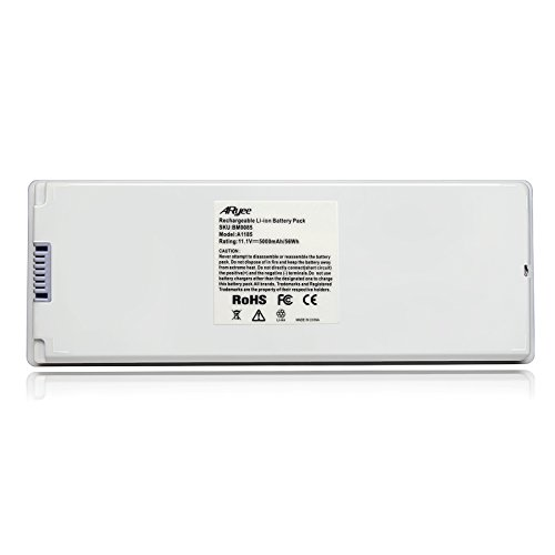 """ARyee A1185 Battery Compatible with Apple MacBook 13"""" A1185 A1181, Fit MA254 MA255 MA699 MA700 MB061/A MB062/A MB402/A MB403/A(5000mAh 11.1V)"""