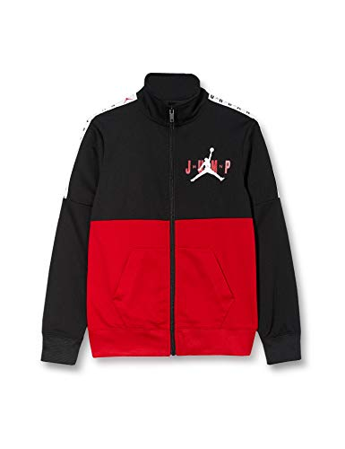 Nike Kinder Jumpman Sideline Tricot Jacket, Jungen, Sport-Jacke, 956915, Schwarz , 12-13 anni