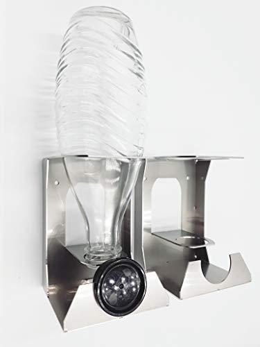HL-Perfektion-in-Edelstahl Wandhalter Abtropfhalter Kompatibel Sodastream Crystal Glasflasche Flaschenhalter (2)