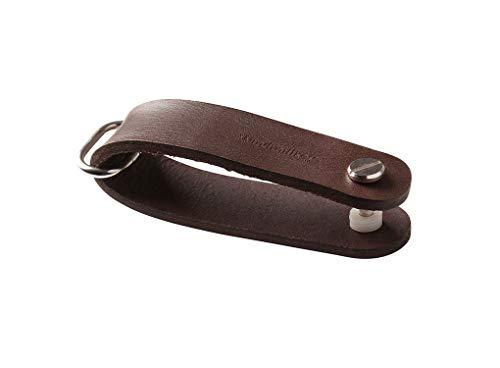MOXON Windmillkey - Organizador de llaves de bolsillo (piel), color marrón