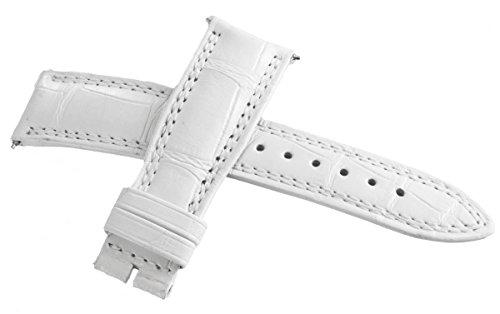 Jaeger Lecoultre OEM bianco Alligatore pelle Watch cinturino 19mm x...