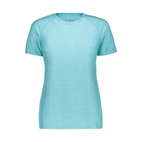 CMP – F.lli Campagnolo Damen Elastisches Melange T-Shirt mit Sonnenschutz UPF 40, Giada Mel, D44, 39T5726