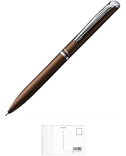 ぺんてる ゲルインキボールペン エナージェルフィログラフィ BLN2005E 0.5mm ブラウン軸 + 画材屋ドットコム ポストカードA