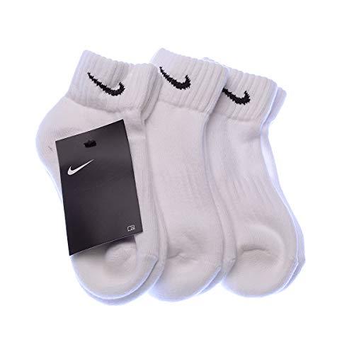 Nike Cushion Value One Quarter Sock - White/Black, M