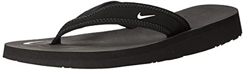 Nike Women's Celso Thong, Black/White, 9 US