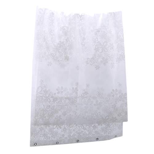 SHIJIAN Duschvorhang, Anti-Schimmel, beschwerter Saum, extra lang, Badezimmer, Duschvorhang, Polyester, halbtransparent, perfekt für Schlafsäle & Zuhause 150 * 180
