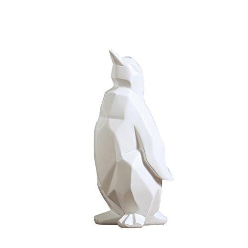 MMM- Europe du Nord Penguin Modèle Salon Vestibule Chambre Créativité Origami Ornements D'animaux Résine Décoration de La Maison Artisanat Décorations (taille : S)