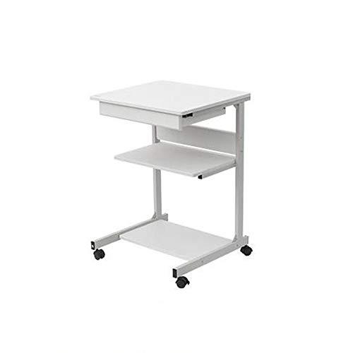 Yingm Facile da Spostare Inizio Rimovibile Desk Table for Small Computer da Letto Comodino Mini Notebook Desk Scrivania del Computer di Casa (Colore : Bianca, Size : 78x55.9x48cm)