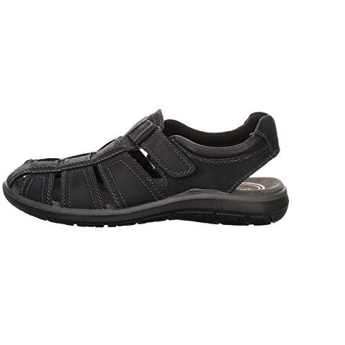 Salamander Herren Sandalen Sandale Leder schwarz Gr. 43