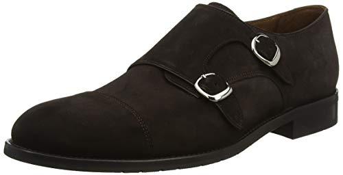 Lottusse L6964, Zapatos Doble Hebilla para Hombre, Marrón (Buckster Moka), 41 EU