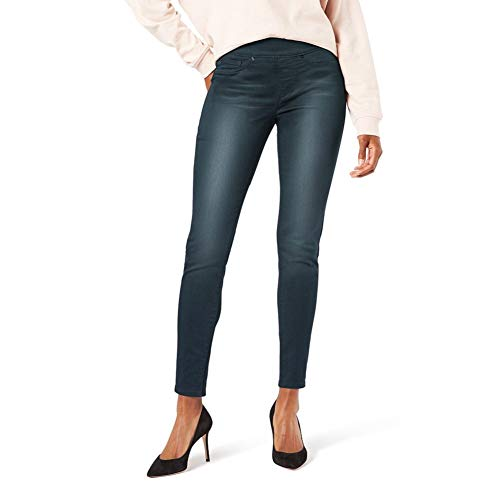 Signature by Levi Strauss & Co. Gold Label Women's Totally Shaping Pull-On Skinny Jeans, Immaculate, 16