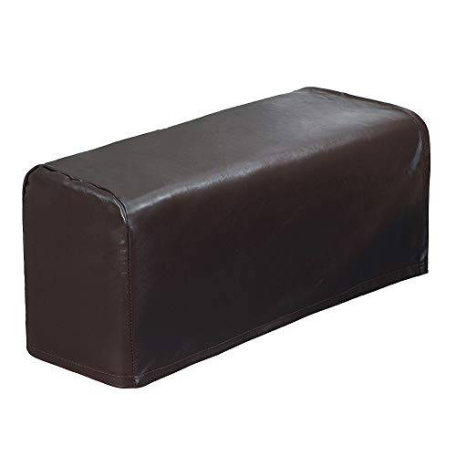 Liamostee 2 Stück PU-Leder Sofabezug, für Sofas, Arme, Sofa, wasserdicht braun