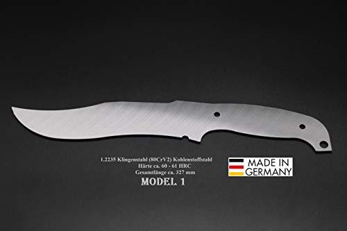 Turmfalke Sägen&Messer Model-1 327mm Poliert/Messerbau Rohling Messerstahl Messerklinge Klingenrohling Jagdmesser
