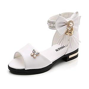 YWLINK NiñO NiñAs Grande Borla Arco Perla Rhinestone Princesa Zapatos Botas Romanas Zapatos De Baile Sandalias Zapatos De Princesa Sandalias De Playa Rosa Blanco Negro 27-36