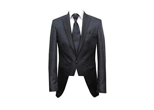 MMUGA Hochzeitsanzug Gehrock Herrenbekleidung schwarz 54