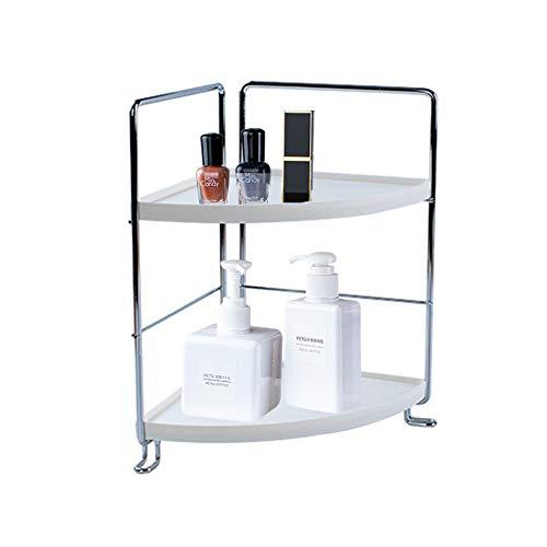 2-Tier Corner Storage Shelf Stackable Organizer for Cosmetics,Bathroom Countertop,Vanity Tray ,Kitchen Standing Shelf