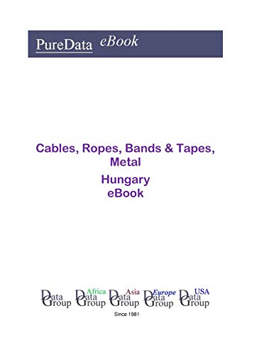 Cables, Ropes, Bands & Tapes, Metal in Hungary: Market Sales (English Edition)