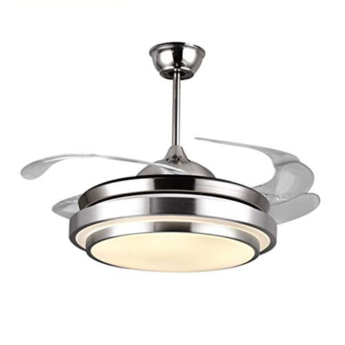 Iluminación de interior Ventilador de techo Led Luz de ventilador Luz de luz eléctrica invisible Ventilador de una lámpara Luz de ventilador eléctrico Silencio Sala de estar Ventiladores para