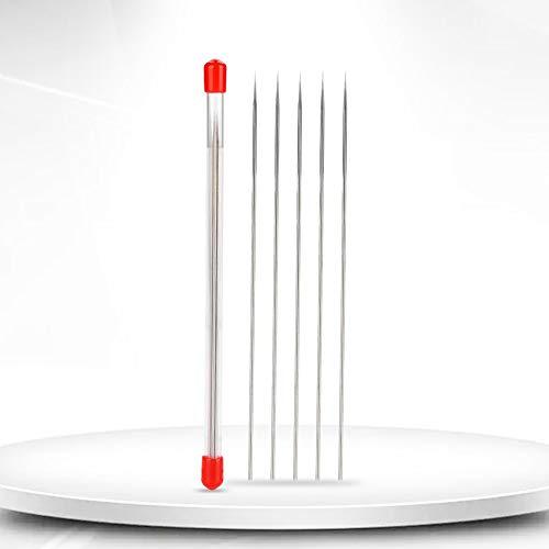 Salmue 5 stücke Düsen Reinigungs Nadel, Professionelle Airbrush Reinigungsnadel, Airbrushnadel Zubehör für Airbrush Lackiermaschine Schwerkraftzufuhr Teil Flüssigkeit(0.2mm)