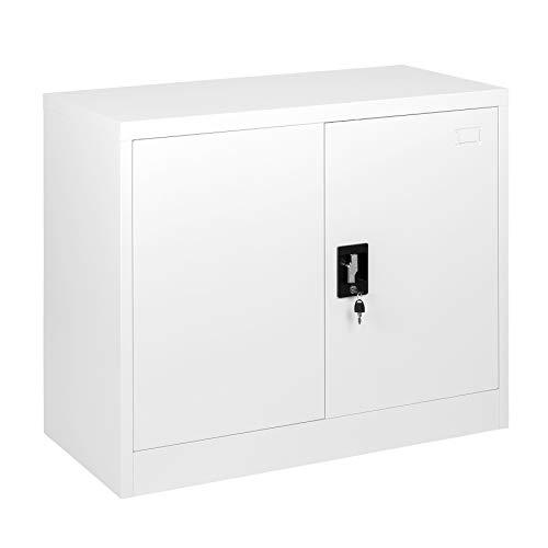 MMT Furniture Designs Ltd FC-A9W 730 White Büroschrank aus Stahl, weiß, 730mm Tall