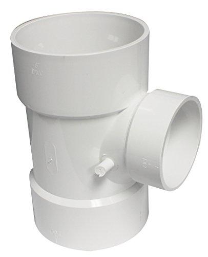 Canplas 192144 PVC DWV Sanitary Tee, 6 x 6 x 4-Inch, White Louisiana