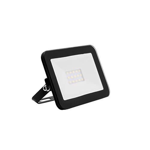 LEDKIA LIGHTING Foco Proyector LED 10W 120lm/W Slim Cristal Negro Blanco Frío 6000K - 6500K