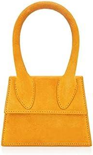 Adebie - Handle Simple Luxury Designer Mini Cute Handbag Suede Square Women Crossbody Bags Shoulder Strap Sling Bags 2019 Hot Small Totes Mini 12.5cm Yellow [Mini 12.5cm]