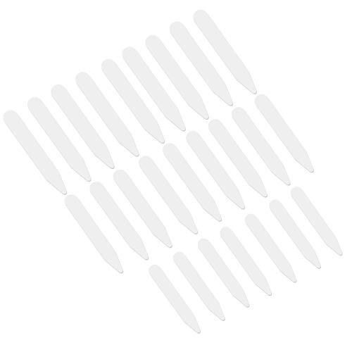 VORCOOL el Cuello Blanco plástico lo demás Des os raidisseurs para Camisa habillée para Caballero en 3tamaños–200pcs