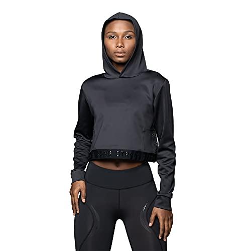 STRONG by Zumba Sudadera transpirable con capucha para mujer, color negro, XL