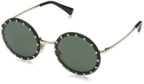 Valentino 0VA2010B 300371 52 Gafas de sol, Dorado (Light Gold/Dark Green), Mujer