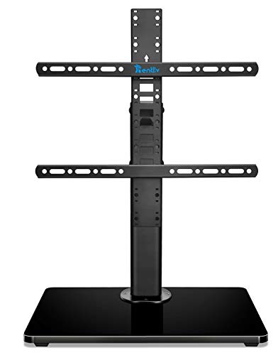 RENTLIV Soporte Genérico para TV - Soporte de TV Tipo Sobremesa para Televisores de 32 a 55 Pulgadas con Base de Madera - 8 Niveles de Altura Ajustable - Máximo VESA 400 x 400 mm y 45 KG