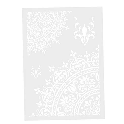 Aardich Malerei Stencil Blumen-Schablone Schablone Hohle Marokkanische Wandschablone A4 DIY dekorative Wände Möbel Crafts