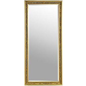 Barcelona Trading Eton Large Full Length Antique Gold Shabby Chic Leaner Wall Floor Mirror 62 X27 Amazon Co Uk Kitchen Home