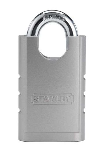 Stanley Hardware S828-152 CD8820 Shrouded Hardened Steel Padlock in Silver, 50mm Width