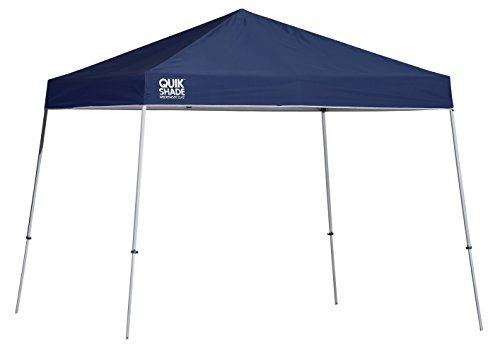 Quik Shade 10' x 10' Weekender Elite Instant Canopy, Slant Leg Outdoor Tent, 81 Square Feet of Shade for 6-8 People - Green
