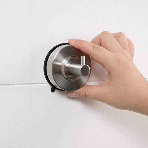 Vacuüm zuignap haken, roestvrij staal zuignapen, handdoek opknoping muur haken voor badkamer/keuken deur commando haken Hanger