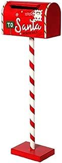 Regency International Santa's Mailbox on Stripe Post Red White