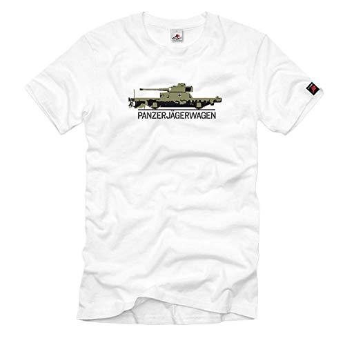 Panzerjägerwagen Eisenbahn Geschütz Panzerzug Panzer Wh - T Shirt #626, Größe:5XL, Farbe:Weiß