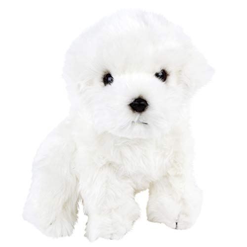Teddys Rothenburg Malteser weiß sitzend 27cm Plüschhund Kuscheltier Stoffhund