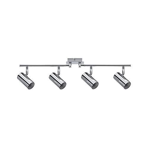 Paulmann 66696 Spotlight Zylo max 4x10W GU10 Chrom 230V Metall 666.96 Deckenleuchte Lampe LED Deckenlampe Deckenstrahler