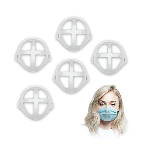 Soporte para máscara facial 3D – Transpiración cómoda – Protección de maquillaje y pintalabios – Aumenta la duración de uso de la máscara – Fijación con velcro integrado – Lavable y reutilizable