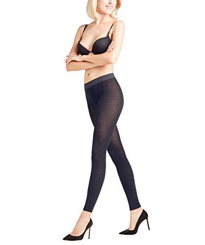 FALKE Damen Leggings Softmerino - Merinowoll-/Baumwollmischung, 1 Paar, Blau (Dark Navy 6370), Größe: M