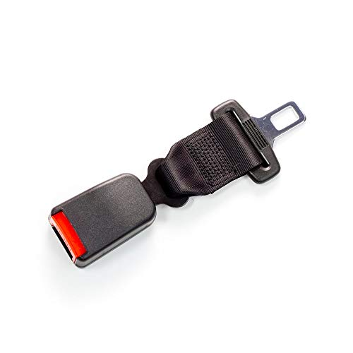 Seat Belt Extender Pros E4 Safety Certified Regular 7 Inch Seatbelt Extender (7/8 Inch Type A Metal Tongue) Click-and-Go to Drive Safely (Black, 1-Pack)