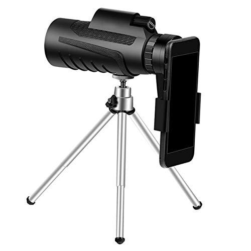 Telescopio monocular 10x42 para teléfono inteligente, 2021 Monocular impermeable más nuevo -BAK4 Prisma con visión nocturna con poca luz, con trípode para teléfono móvil Observación de aves Caza