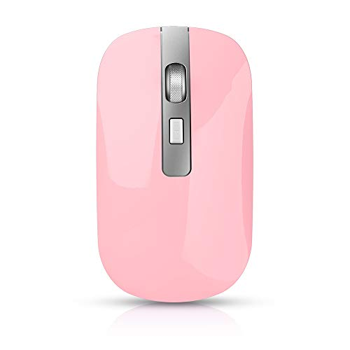 Honelife M30 Rechargeable Wireless Mouse 2.4GHz Mice 1600DPI Metal Scroll...